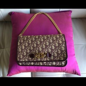 Authentic, 1970's Dior burgundy clutch/ handbag